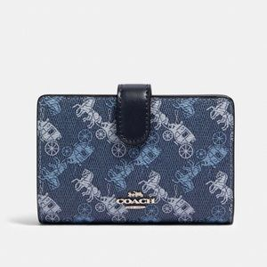 COACH Wallet Horse and Carriage Print